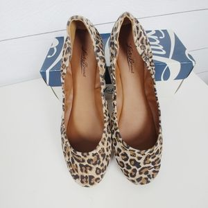 Lucky Brand Emmie Suede Leopard Flats